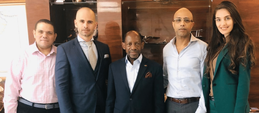 DR. DOUGLAS, THE FORMER PRIME MINISTER OF ST KITTS & NEVIS HONORS IRC INVEST WITH A VISIT